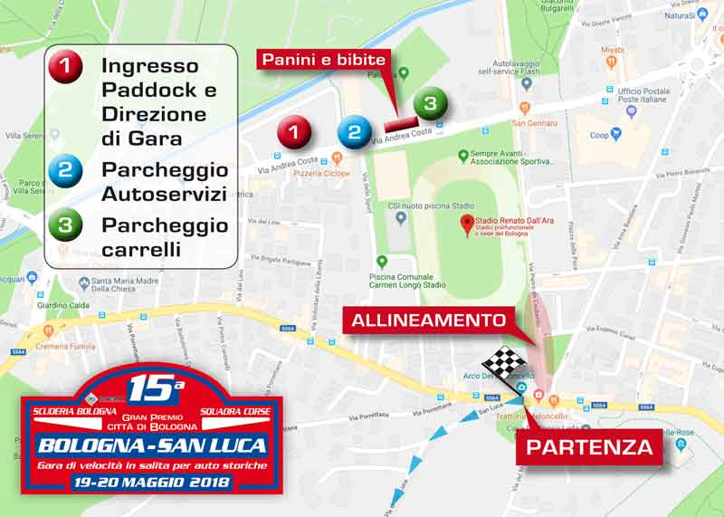 Map of 15th Bologna-SanLuca